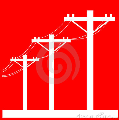 Electric Power Lines Graphic